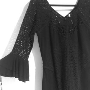 Free People Crochet Bell Sleeve Dress